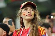 Španělská fanynka. Fotbalové MS Rusko 2018