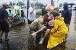 Záplavy v Texasu po hurikánu Harvey.
