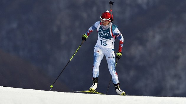 Veronika Vítková ve vytrvalostním závodě na olympijských hrách v Pchjongčchangu.