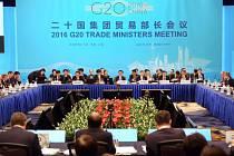 Ministři obchodu dvacítky největších světových ekonomik G20 na závěr své dvoudenní schůzky v Šanghaji vyzvali vlády svých zemí, aby odstranily překážky bránící rozvoji světového obchodu.