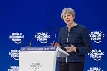 Theresa Mayová v Davosu