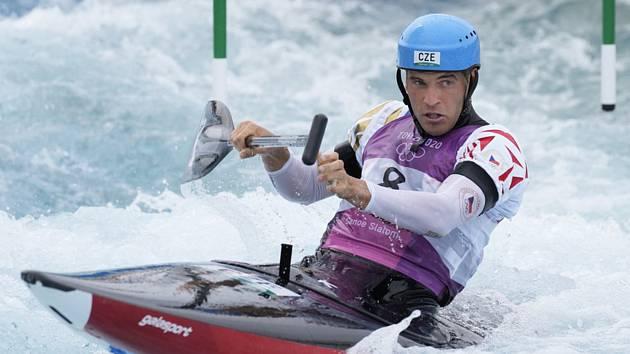 Stříbrný olympijský medailista Lukáš Rohan ve finálové jízdě v Tokiu.