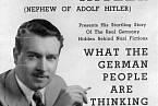Plakát, který zval na Williamovy přednášky o situaci v Německu
