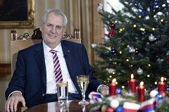 Vánoční poselství prezidenta republiky Miloše Zemana, 26. prosince 2017 v Lánech.