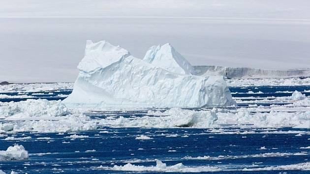 Ledové kry v Antarktidě