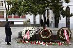 Pietní místo u místa střelby ve Vídni na sníku z 4. listopadu 2020