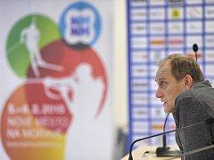 Ředitel biatlonových závodů SP Vlastimil Jakeš.