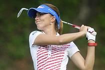 Golfista Klára Spilková na turnaji série Ladies European Tour v Dýšině u Plzně.