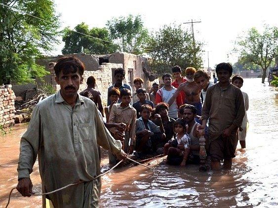 Záplavy v Pákistánu.