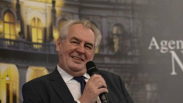 Prezident Miloš Zeman na Žofínském fóru.