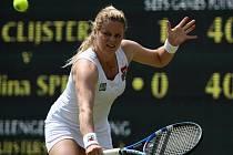 Kim Clijstersová na travnatém dvorci Wimbledonu,
