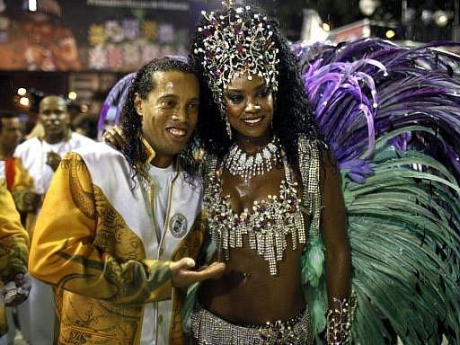 Karneval v brazilském Rio de Janeiru