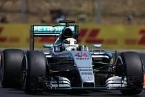 Lewis Hamilton během kvalifikace na Velkou cenu Maďarska