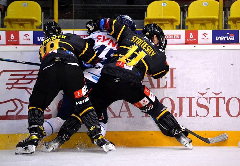 V druhém kole extraigy hostil HC Verva Litvínov na své ledě tým Bílí tygři Liberec. Foto: Deník/Edvard D. Beneš