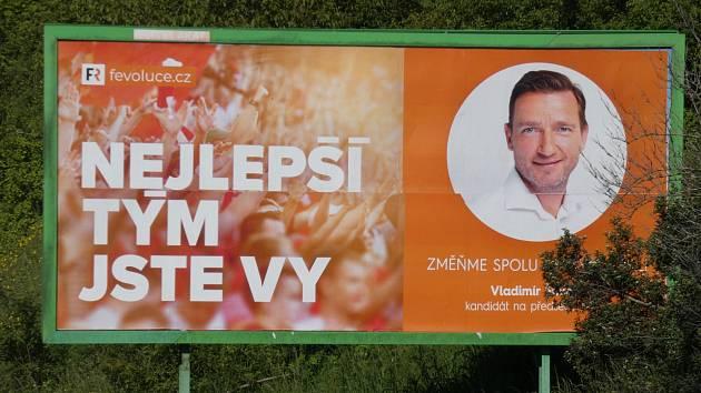 Billboardová kampaň Vladimíra Šmicera, Praha-Stodůlky