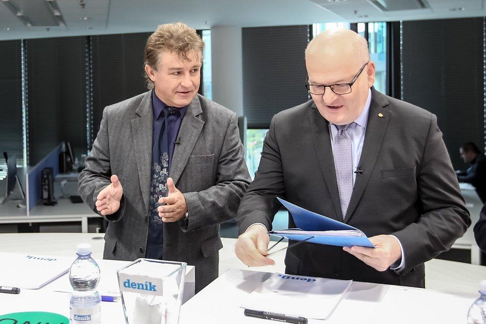 Předvolební Deníku probíhala 19. října v Aviatice: Jiří Dolejš, Daniel Herman