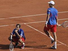 Semifinále Davis Cupu: Čtyřhra mezi Francií a Českem