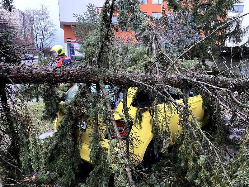 Silný vítr přidělal práci i pražským hasičům