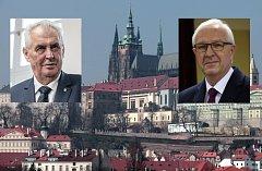 Miloš Zeman (vlevo) a Jiří Drahoš. Dva kandidáti na prezidenta.