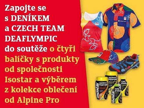Zapojte se s DENÍKEM a CZECH TEAM DEAFLYMPIC do soutěže o čtyři balíčky s produkty od společnosti Isostar a výběrem z kolekce oblečení od Alpine Pro