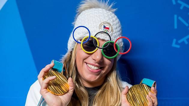 Dvojnásobná olympijská vítězka z Pchojongčchangu Ester Ledecká.
