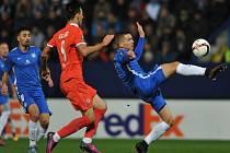 Fotbalisté Liberce (v modrém) proti Fiorentině.