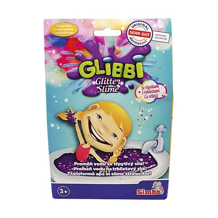 Přísada do koupele Glibbi, sliz se třpytkami
