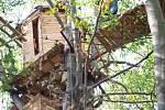 Zásah proti ekologickým aktivistům v Hambašském lese.