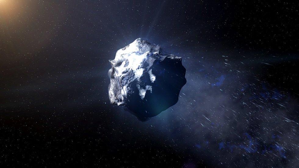 Mezihvězdá kometa 2I/Borisov, která se dostala do naší Sluneční soustavy.