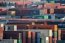 Kontejnerové lodě v Hamburku