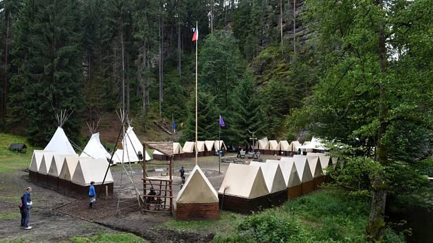 Dětský skautský tábor. Ilustrační foto.