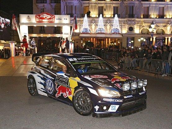 Sébastien Ogier na startu Rallye Monte Carlo