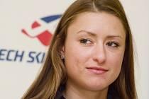 Petra Nováková na tiskové konferenci Svazu lyžařů