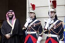 Saúdský princ Muhammad bin Salmán při oficiální návštěvě Francie