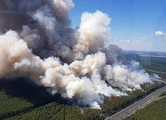 Požár v Německu.