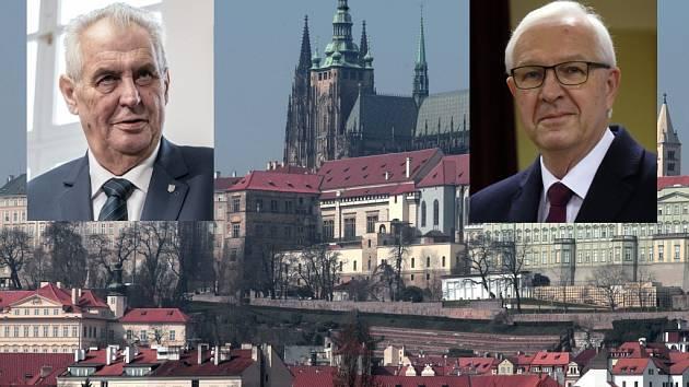 Miloš Zeman (vlevo) a Jiří Drahoš. Kdo usedne na Pražském hradě?
