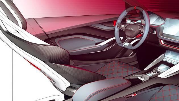 Interiér studie Škoda pro Paříž