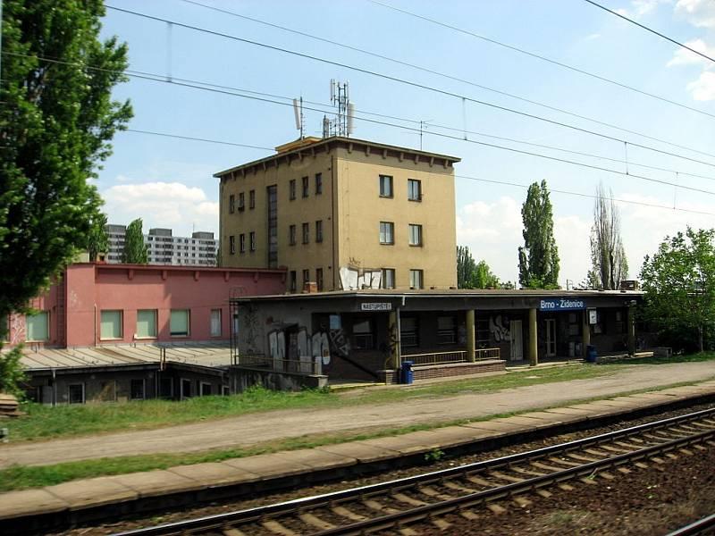 Dnešní podoba železniční zastávky Brno-Židenice