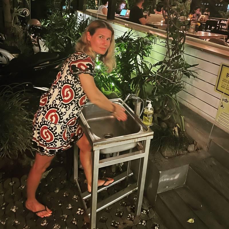 Zlata Biedermannová z Teplic na Bali.