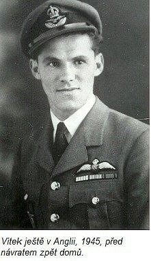 Stíhač 312. perutě Vít Angetter ještě v Anglii v roce 1945