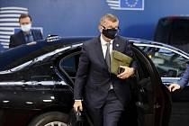 Andrej Babiš v Bruselu na summitu EU.