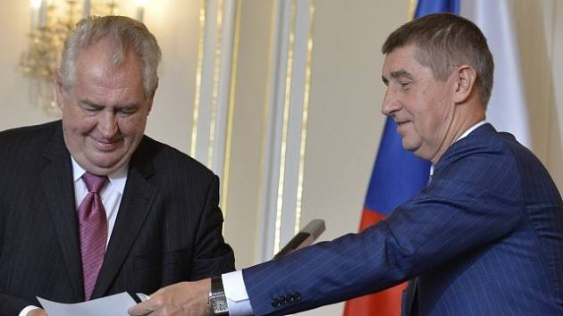Andrej Babiš s Milošem Zemanem