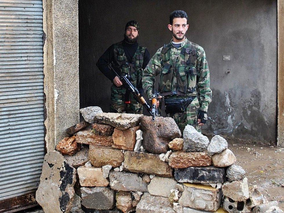 Příslušníci syrské armády.