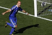 Premiérový gól Slováků na MS dal proti Novému Zélandu Robert Vittek.