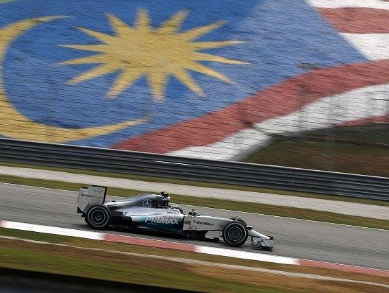 Nico Rosberg na okruhu v Sepangu