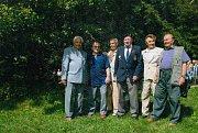 František Kolečkář s přáteli na muklovské pouti na Sv. Hostýně