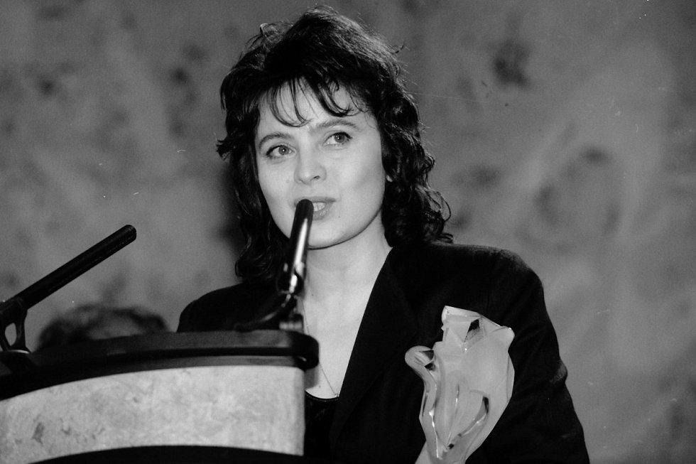 Herečka Libuše Šafránková (* 7. 6. 1953,  † 9. 6. 2021)