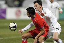 Čeští fotbalisté uhráli s reprezentací Slovinka v kvalifikačním utkání na  MS 2010 bezbrankovou remízu.