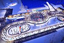 Vizualizace Olympijského parku v Ostravě pro zimu 2018