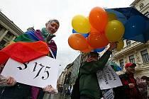 V roce 2010 se pochod homosexuálů konal v Brně. Ilustrační foto